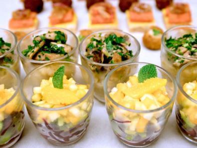 Verrine de salade champignons de Paris