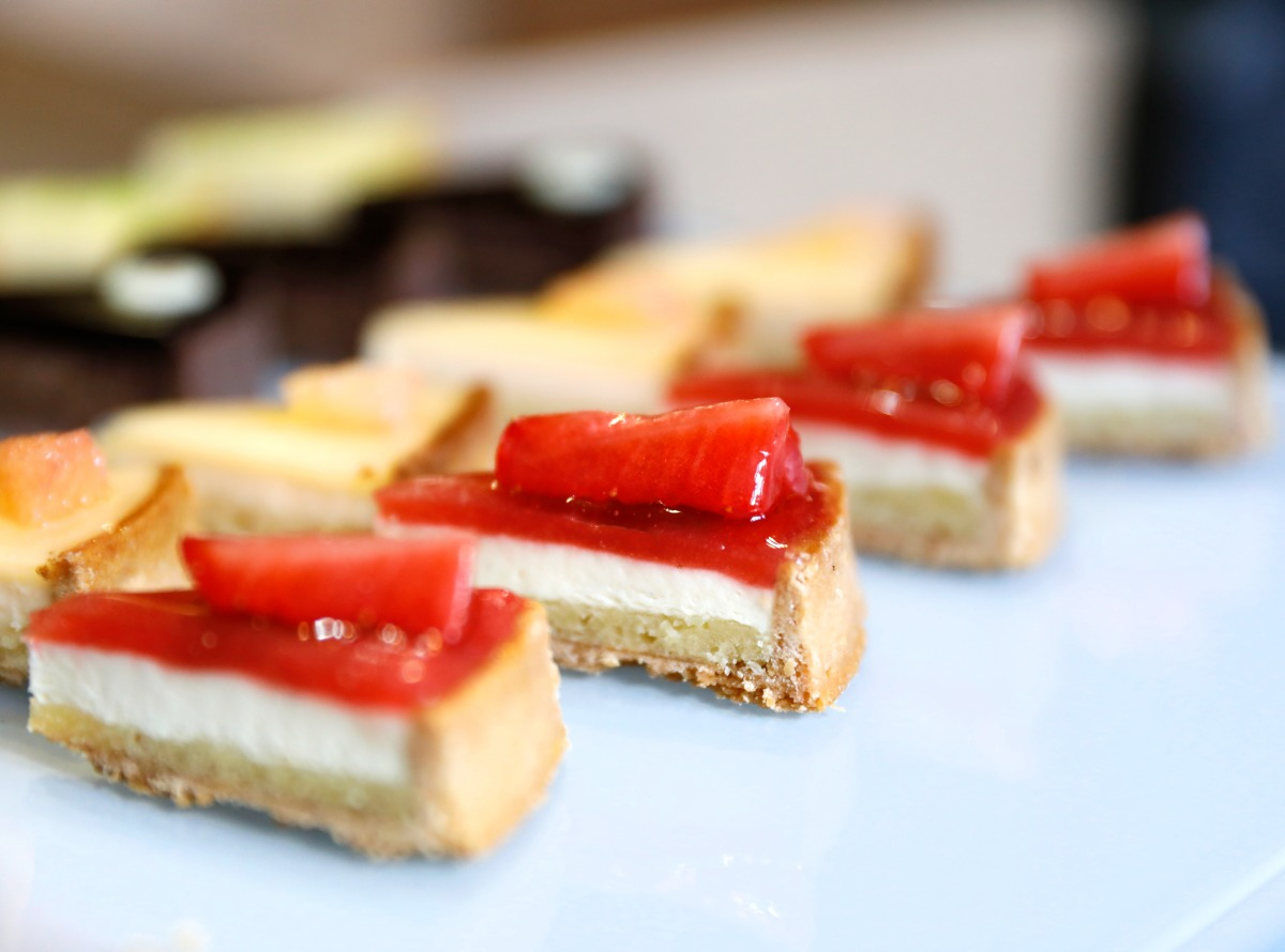 Parts de mini tartes fraise