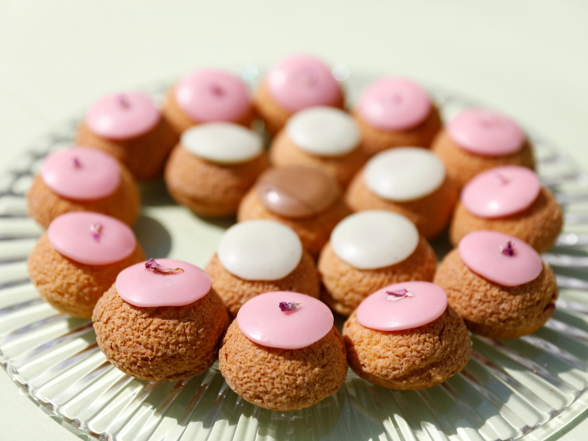 Choux Popelini rose et beige
