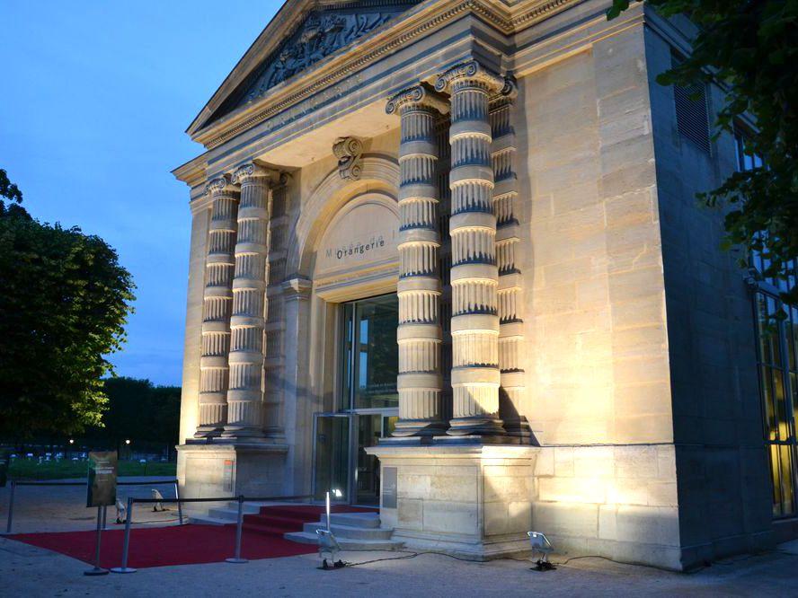 Musée de L'Orangerie extérieur jour nuit
