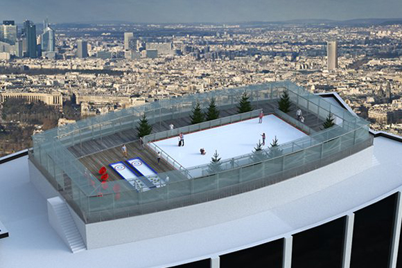 rooftop - patinoire - tour montparnasse