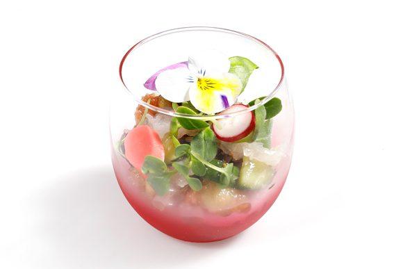 tartare de bar - création culinaire - traiteur de luxe - création sur mesure
