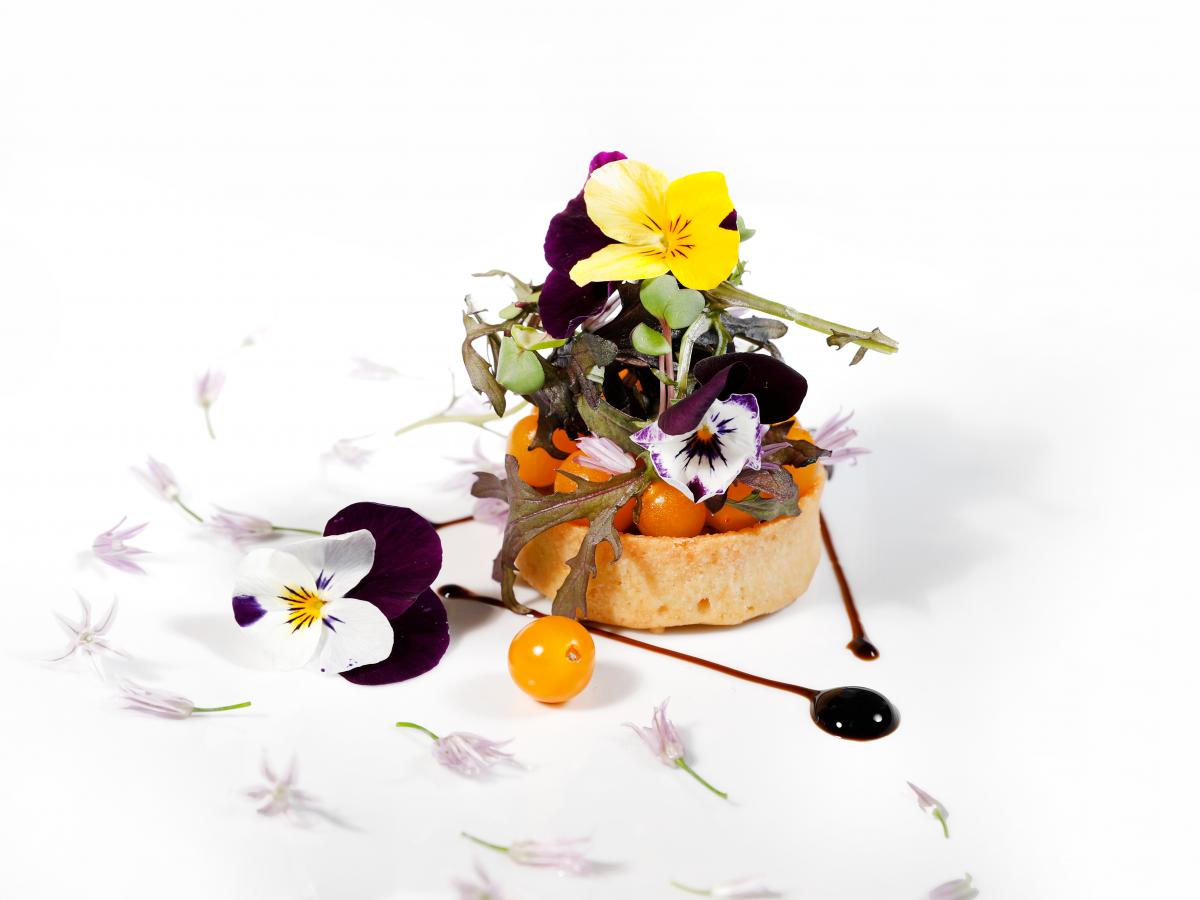 tarte tomates - création culinaire - traiteur de luxe