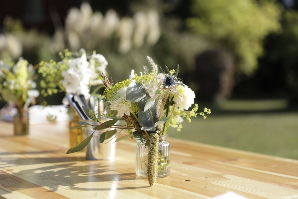 composition florale - décoration - service événementiel - réception privée
