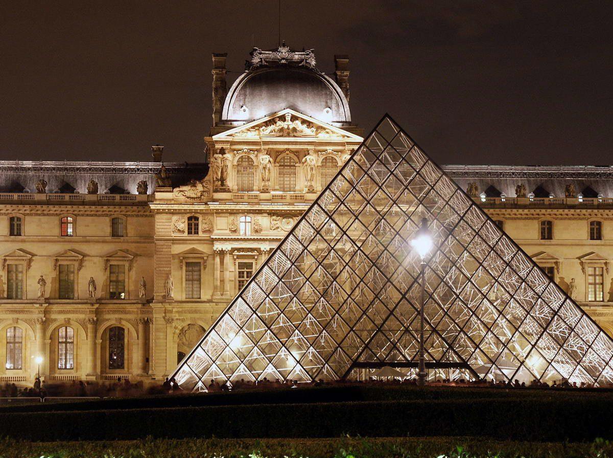 musée du louvre - pyramide extérieur